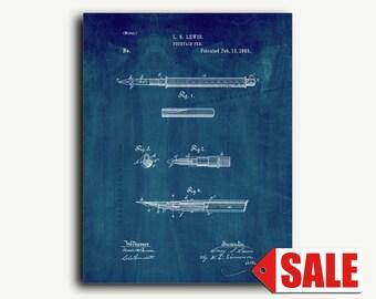Patent Art - Fountain Pen Patent Wall Art Print