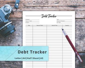 Debt Tracker, Debt Payoff Tracker, Debt Free, Debt Planner, Debt Tracker Printable, Debt Snowball Planner, Debt Payoff, Debt Printable