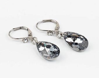 Drop earrings - short - Swarovski-