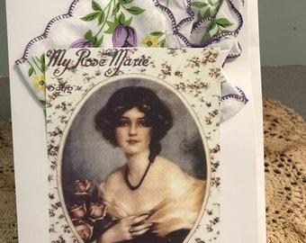 My Rose Marie Hanky Card