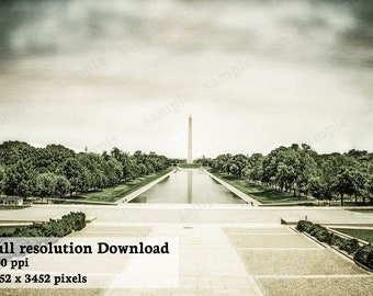 Digital Download - Landmark photography - Washington Monument