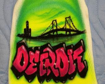 Custom skull hat  Detroit  Skyline