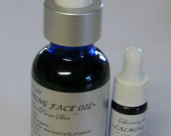 CALMING FACE OIL~Acne Prone Skin-All natural and organic