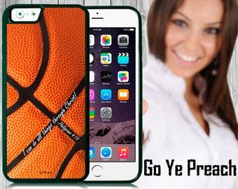 Philippians 4:13 Basketball Phone Case, Bible Verse Scripture iPhone case 4/4s 5/5s 5c 6 & Samsung Galaxy case s3 s4 s5 Faith iPhone Cover