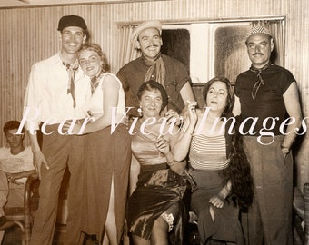 CRUISE COSTUME PARTY 1940'S Vintage Photograph  - French Style Tango Dancing costumes