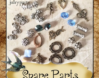 Ersatz-PARTS•Earring Parts•Necklace Parts•Vintage Components•Set 14