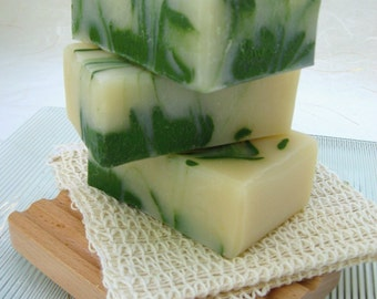 Lime and Shea Organic Soap, Vegan Cold Process Soap