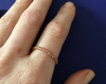 Filigree stack ring in Rose gold sz 8