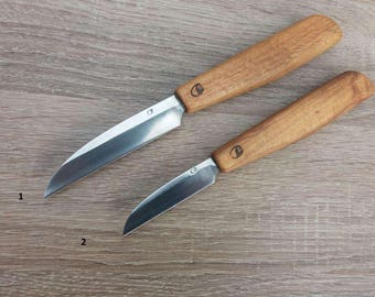Hand forged knife. Woodcarving knife.
