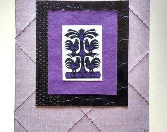 lavender birds card