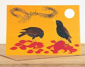Starlings Greetings Card