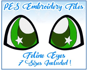 PES Feline Eyes Embroidery Files Instant Download- Other formats on request!