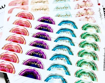 FOILED- Geode Date Covers / planner stickers
