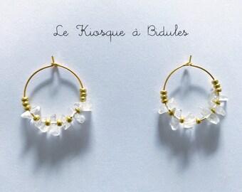 Boucles d'oreilles - Pierres semi-précieuses - Cristal de roche