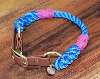 Blue Rope Dog Collar