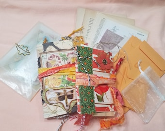 """Mini Junk Journal Bundle , Includes both A-6 and passport sizes, """"Glorious"""""""