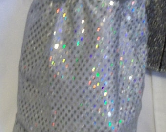 "18"" doll Silver Gown 372E"