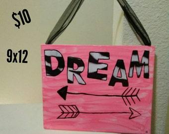 Pink Zebra Dream Sign