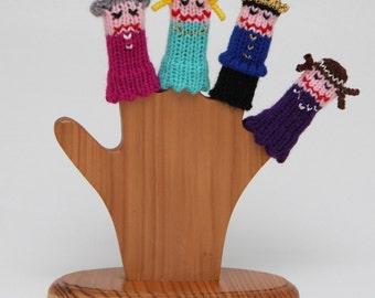 Cinderella Finger Puppet Set.  (Includes Cinderella, Prince Charming, Evil Stepmother, and Fairy Godmother.)