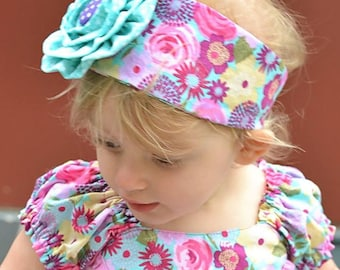 New! Ella Rose Headband and Brooch 6-12m through Adult PDF Sewing Pattern