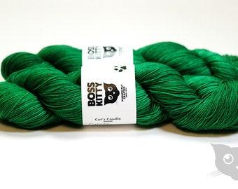 Elphaba - Hand Dyed/Superwash Merino/Cat's Cradle Solid