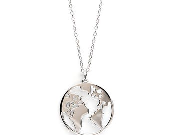 Necklace EARTH - 925 Silver, necklace Earth, world, earth, world