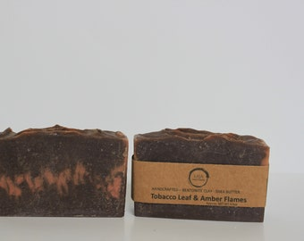 Shea Butter Soap - Tobacco and Amber Flames