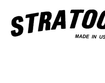 Two Late 70s Strat Headstock Decals