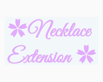Necklace extension - multiple lengths