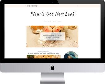 SALE Fleur - Minimal Blogger Template Responsive Design Custom Blogger Design Responsive Blogger template Blogger theme premade