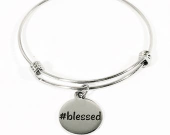 Blessed Bracelet, #Blessed Jewelry, I Am Blessed, Christian Jewelry Gift, Christian Bracelet, Religious Bracelet, Spiritual Gift,  Stacking