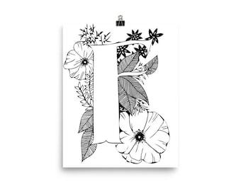 "floral ""F"" print"