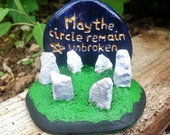 Stone Circle, Pagan Altar Decor, Standing Stones,  Wiccan Altar Piece, Pagan Home Decor, wiccan rede inspirational quote, pagan gift ideas
