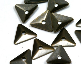 triangle middle hole 1000 Pcs Antique brass Tone Brass 8 mm Charms ,Findings 698AB-112