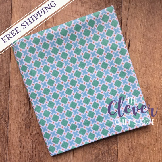 Final Yard! Last Call! Quilting Fabric, Riley Blake, Modern Mint - Modern Minis by Lori Holt for Bee in my Bonnet