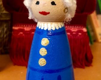 Barbara Bush Peg Doll