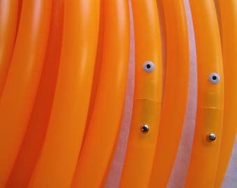 5/8 UV Orange Polypro Custom Made Hula Hoop - Made to Order