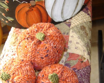 Pumpkin Knitted Trio