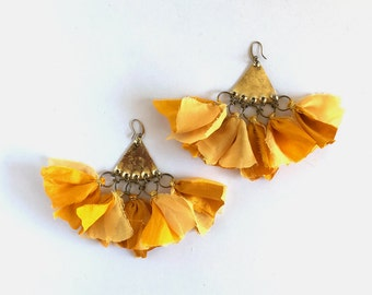 Tassel Earrings Statement Earrings Bohemian Earrings Dangle silk Earrings Bohemian Jewelry Boho Chic Fashion Ethnic earrings Summer earrings