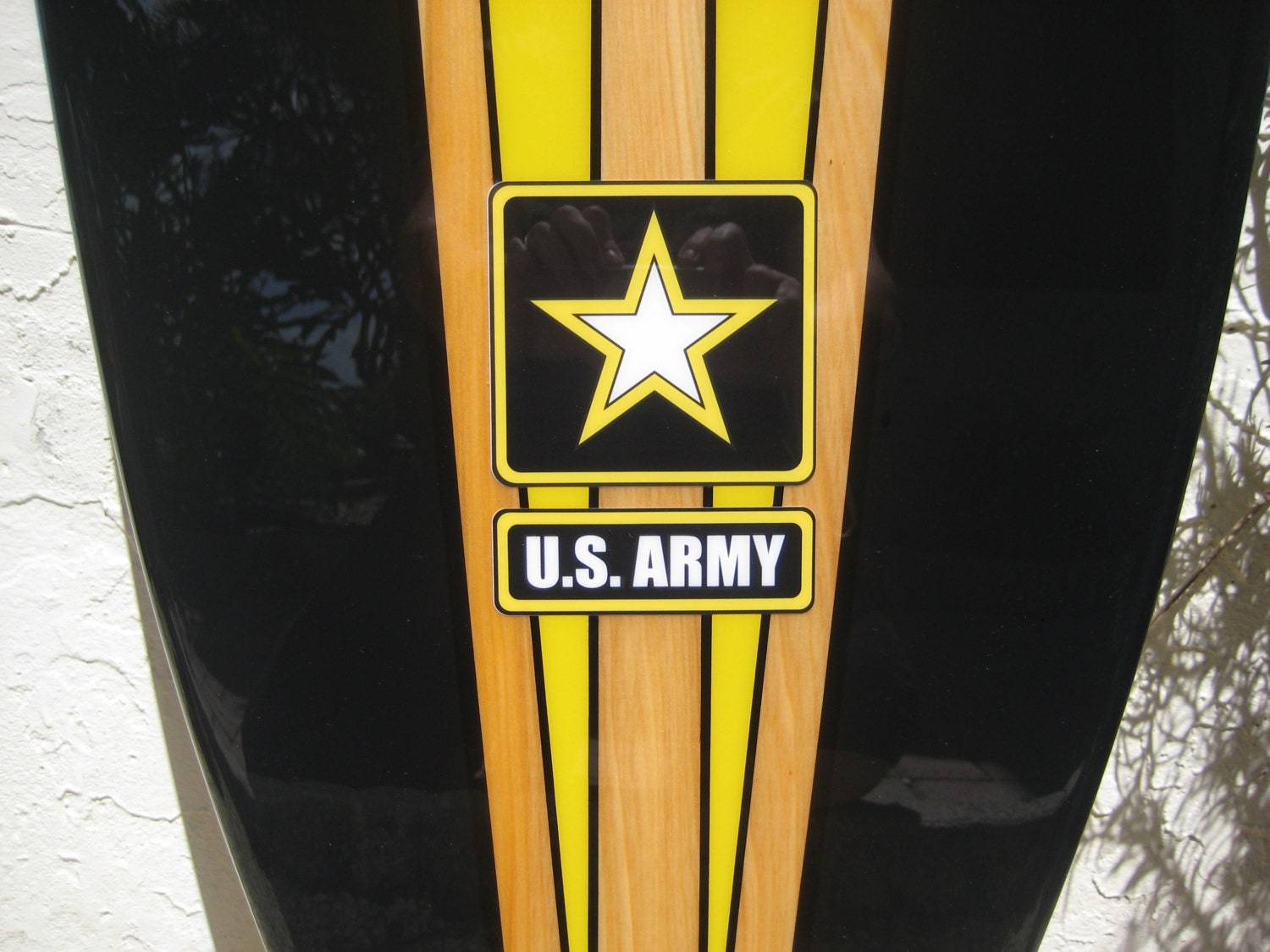 Decorative Wood Surfboard Wall Art Army Military Gift