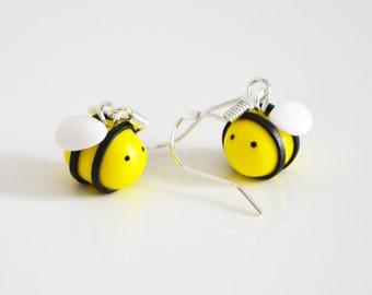 Bumble Bee Ohrringe, Polymer Clay, Fimo