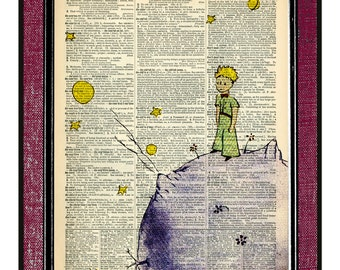 THE LITTLE PRINCE Wall Hangings Illustration Wall Decor Little Prince Drawing Kids Art Print Digital Illustration Kids Wall Art Digital Art