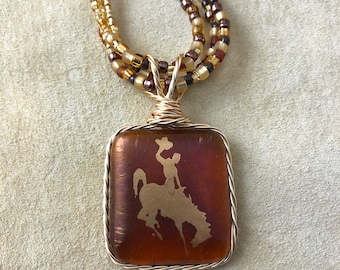 Brown & Gold Cowgirl Necklace