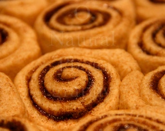 Cinnamon Bun Dessert Photography Swirls Kitchen Art Wall Art Home Decor 4x6 5x7 8x10 11x14 Kitchen Decor Photography Prints