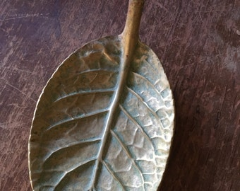 Virginia MetalWorkers Brass Leaf,  Virginia MetalWorkers Brass Gloxenia Leaf,  Collectible Brass, Gift for the Collector