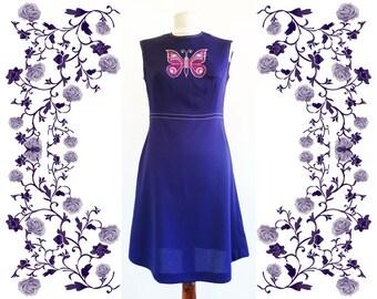 1960's Vintage Deadstock NOS Embroidered Dress