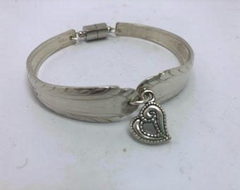 Silver Spoon Bracelet with Charm