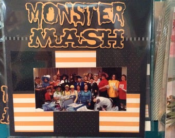 Monster Mash Scrapbook Layout Kit
