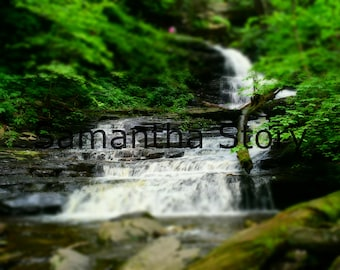 Flowing Waterfall at Ricketts Glen