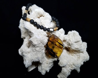 Amber Earth Necklace